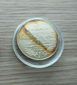 1 Silberunze 5 DM GERMANISCHES MUSEUM  31,1 g. Feinsilber 1952 - 1992