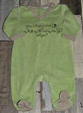 238ed42606105 Pyjama en velours vert imprimé VERTBAUDET garçon 3 mois 💙 SAB128