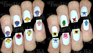 Monsieur Madame Mr Men stickers autocollant ongles manucure nail water decal