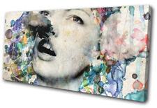 Woman Watercolour  Illustration SINGLE DOEK WALL ART foto afdrukken