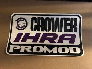"CROWER IHRA PROMOD RACING OFFROAD STICKER 8"" X 4.50"""