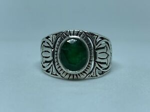 Emerald Mens Ring