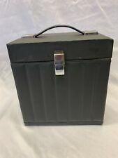 "Vintage Faux Leather Cheney Black 7"" Record Box"