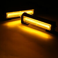 2Pcs 12V 36W  Car COB LED Strobe Light Emergency Warning Flashing Beacon Amber