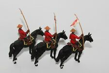 3 Vintage 1981 1:32 BRITAINS #7234 ROYAL CANADIAN MOUNTED POLICE