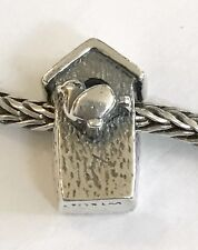Authentic Trollbeads Birdhouse Sterling Silver Bead