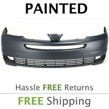 Fits: 2004 2005 Toyota Sienna Front Bumper PAINTED W/out sensor holes TO1000272