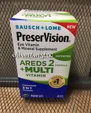 Bausch + Lomb Preservision Areds 2 Multi Vitamin Eye Vitamins 100 Soft Gels 1/19