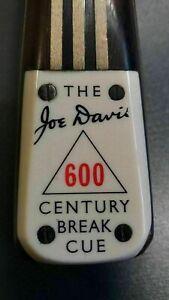 JOE DAVIS (600)  CENTURY BREAK SNOOKER CUE - £650