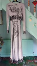 Rare Save the Queen grey strappy maxi dress long sleeve wrap jacket XL 12 14 16