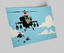 ACEO Banksy Happy Choppers Graffiti Street Art Canvas Giclee Print