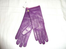 Plum COACH Women's Cashmere Lined Leather Winter Gloves PINK 82821 NEW NWT 6.5