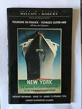 CATALOGUE MILLON ET ROBERT TOURISME FRANCE VOYAGES AFFICHE COLLECTION 1996
