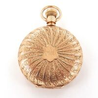 .1893 ELGIN 0S 7J LADIES POCKET WATCH W/ SUPERB 14K GOLD CASE