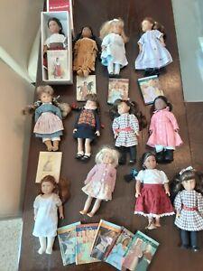 "Lot of 12 Mini 6"" American Girl Dolls W BOOKS Molly Kaya Josephine Kit Samantha"