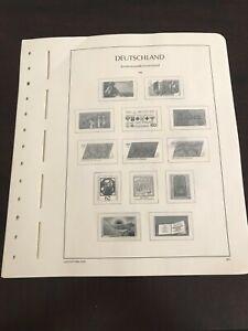 Lighthouse Deutschland Hingeless Stamp Album Pages 1980 - 1984