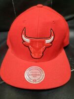 Mitchell Ness Chicago Bulls Nba Snapback Hat Red