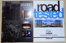 + CA Crest Audio Professional Power Amplifiers Brochure & Product Guide