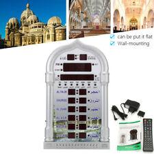 HA-4008 Silver Digital Azan Wall Clock Muslim Prayer Ramadan Gift Home Decor