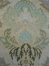 "LUXURIOUS Lee Jofa ""WATERFORD DAMASK"" Embroidered Fabric 9.25 yds Retail $2738"
