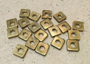 2 BA Pressed Square Brass Nuts. British Made MG PT1116