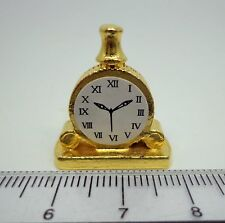1:12 Scale Non Working Metal Mantle Clock Dolls House Miniature Accessory D332