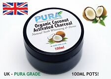PURA® Large 100ML COCONUT Activated Charcoal - Organic Teeth Whitening