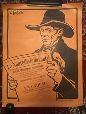 Affiche ancienne Le Nouvelliste du Cantal - vers 1920/30