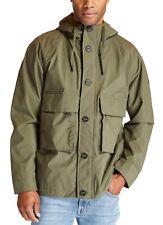 Timberland Men's Hooded Polyester Waterproof Worker Jacket Grape Leaf Coat