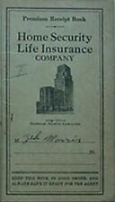 1946 HOME SECURITY LIFE INSURANCE COMPANY PREMIUM RECEIPT BOOK (DURHAM, NC
