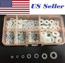 250Pcs/Lot Nylon Flat Washer Assortment Kit, m2,m2.5,m3,m4,m5,m6,m8 Screw/Bolt