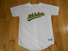 Majestic BOBBY CROSBY OAKLAND ATHLETICS A's Youth MLB Stitched Team JERSEY Sz XL