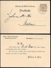 Germany Wuerttemberg 3Pf Postal Stationery Card 1896. Cannstatt