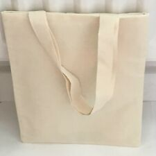 5 x Plain Cotton/canvas Tote Bag Xmas/craft/sewing/Hen Party/book/favour/goody