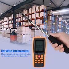 GM8903 Digital Hot Wire Wind Speed Meter Temperature Gauge Anemometer BS