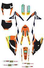 FACTORY GRAPHICS KIT KTM 250 300 350 450 500 SXF XCF EXC 2016-2018 79408990000