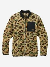 BURTON snowboard Grove Fleece Full Zip Jacket Camo mens Medium NEW In Package