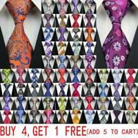NEW 163 Style Men Silk Tie Set Jacquard Woven Necktie Set Wedding Paisley Stripe