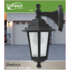 6 x Black Coach Light 240v IP44 Traditional Old English Lantern Downward 20567