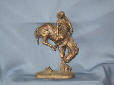 Vintage FRANKLIN MINT Frederic Remington Art Museum Bronze Figure  THE OUTLAW