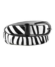 Gorgeous! CAbi Zebra Belt Medium Black White #3299