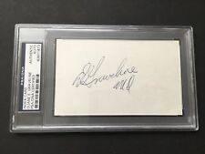 Duane E. Graveline Signed Card PSA / DNA NASA Apollo Astronaut Auto