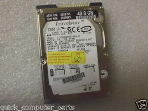 """IBM 40GB IDE Laptop Hard Drive IC25N040ATCS04-0 2.5"""""""