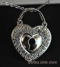 Diamond Heart Locket Necklace Sterling Silver Victoria Townsend Love New 18""