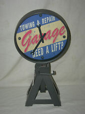 """TOWING & REPAIR"" GARAGE ""NEED A LIFT?"" SHELF CLOCK"
