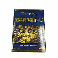 LOTR Strategy battle game Hardcover War of the ring rule book Used VG GW Book