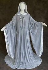 Grey Velvet Gandalph Robe Wizard Cloak Wicca LOTR Hobbit Renaissance Medieval