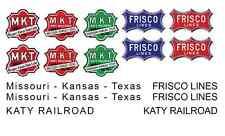 MKT Katy Frisco Lines Decal Set Lionel,Flyer, Marx & More