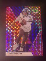 Lamar Jackson 2020 Panini Mosaic Pink Camo Mosaic #19 Baltimore Ravens Rare!