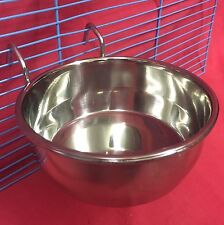 Bird Dog Cat Rabbit Cage Clip On Water Food Bowl Countainer 2 Hook Coop Cup 12cm